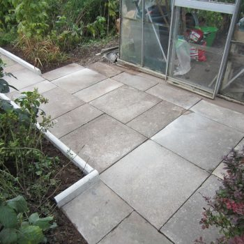 After patio slabs